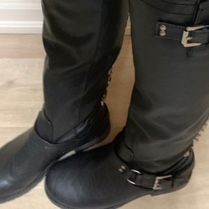 Women's Black knee high boots